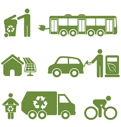 Environment icons set vector image