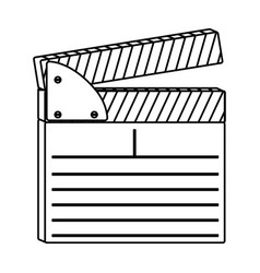 Figure clapper board icon vector