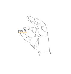 Finger signal hand signal vector