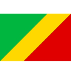 Flag of Republic of the Congo vector image