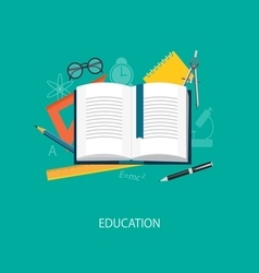 Flat elements of education vector