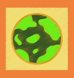 Flat shading style icons halloween full moon vector