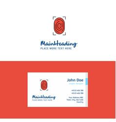 flat thumb impression logo and visiting card vector image