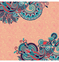 floral pattern with place for your greetings vector image
