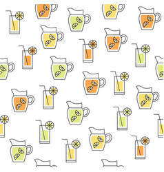 fruit juice such as lemon lime orange beverage vector image