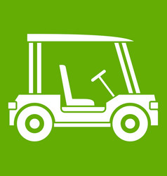 golf club vehicle icon green vector image
