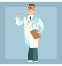 good doctor physician in a white coat vector image