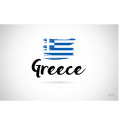greece country flag concept with grunge design vector image