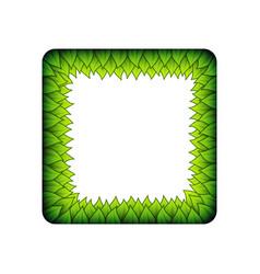 green inner leaves square frame vector image