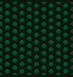 green stripe shamrocks on black background vector image