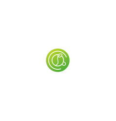 green tea cup drink logo vector image