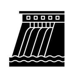 Hydroelectric dam glyph icon vector