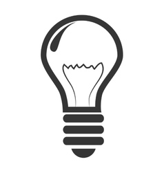 icon bulb idea creative light vector image