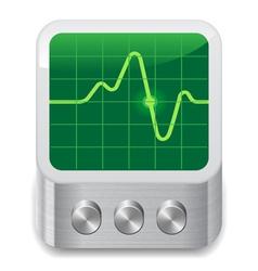 Icon for oscilloscope vector image