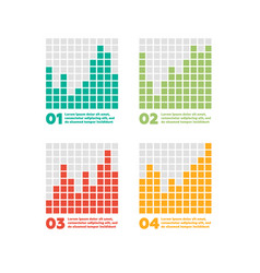 infographics elements progress bar vector image