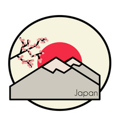 Japan logo landscape vector