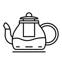kitchen teapot icon outline style vector image