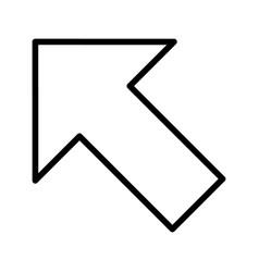 Left up arrow basic element icon vector