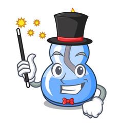 Magician alcohol burner mascot cartoon vector