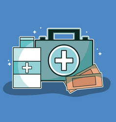 medical care tools to first aid vector image