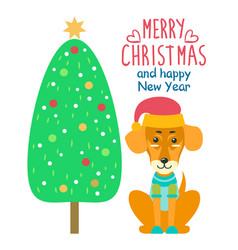 Merry christmas and happy new year festive banner vector