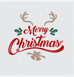 merry christmas happy new year logo amp symbol vector image