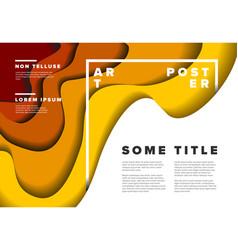 modern poster flyer template vector image