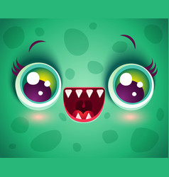 monster for halloween mask vector image