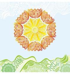 Nature pattern background beautiful sun vector image