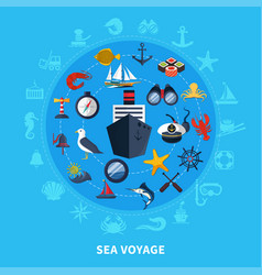 Nautical concept vector