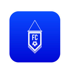 pennant with soccer ball icon digital blue vector image