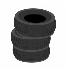 Pile of car tires cartoon icon vector