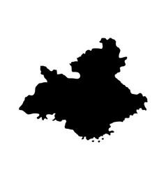 provence alpes cote d azur map silhouette vector image
