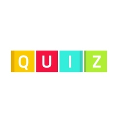 Quiz logo questionnaire show icon concept vector