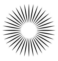 Radial - radiating lines burst element circular vector