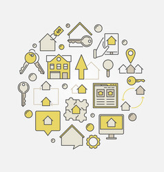 Real estate circular vector