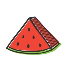Red watermelon isolated popart vector