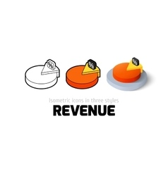 Revenue icon in different style vector image