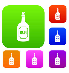 rum set color collection vector image