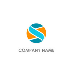 S initial business logo vector