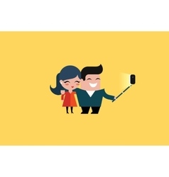 selfie couple vector image