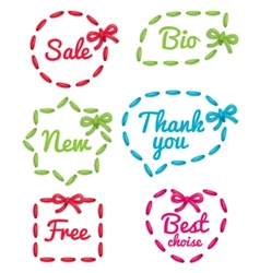 selling tag set vector image