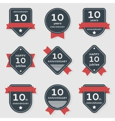 set anniversary banners vector image