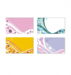 Set of horizontal business cards vector