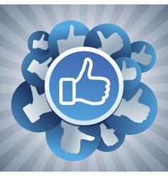 social media concept vector image