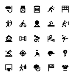 Sports and Games Icons 3 vector image