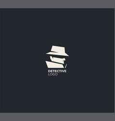 spy detective logo design template vector image