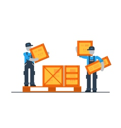 Storage services moving boxes shipping delivery vector image