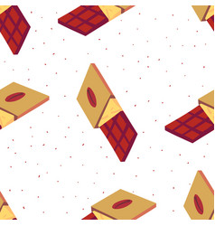 Sweet seamless pattern with chocolate bars on a vector