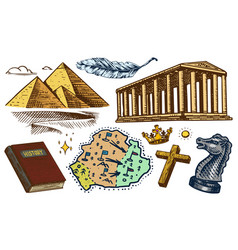 the concept history on earth education vector image